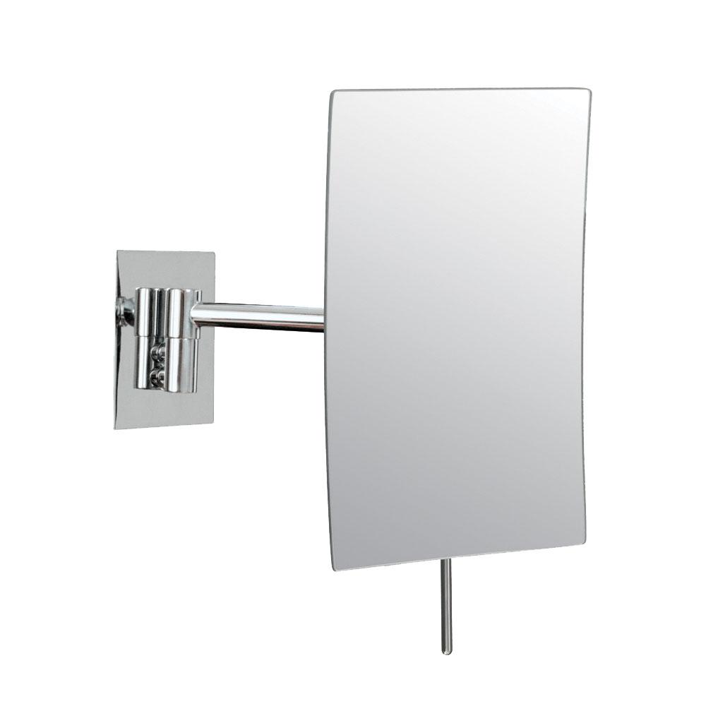 Wall mounted makeup mirror rectangular 3x image