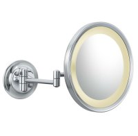 Wall Mounted Makeup Mirror - Round 5X in Wall Mirrors