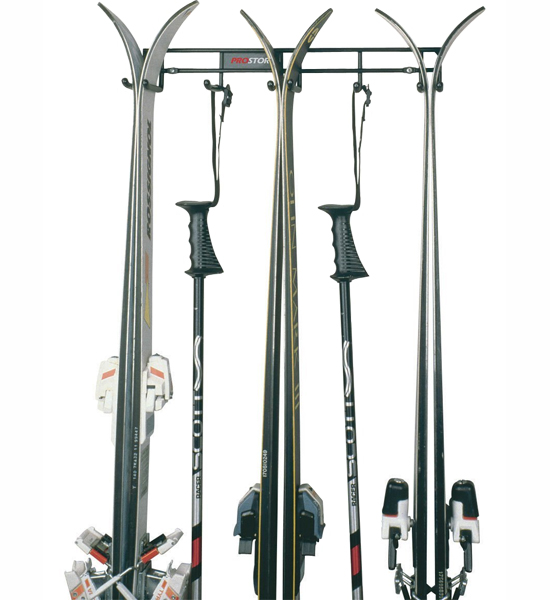Wall Ski Storage Rack In Sports Equipment Organizers