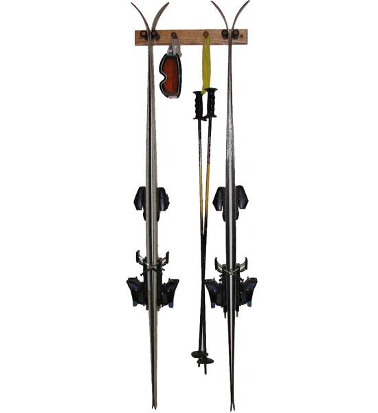 Wooden Ski Rack Vertical Oak In Sports Equipment
