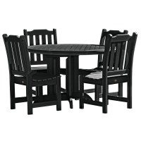 5-Piece Round Patio Dining Set in Patio Dining Sets