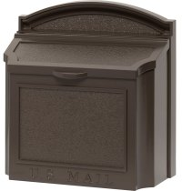 Aluminum Wall Mount Mailbox in Home Mailboxes