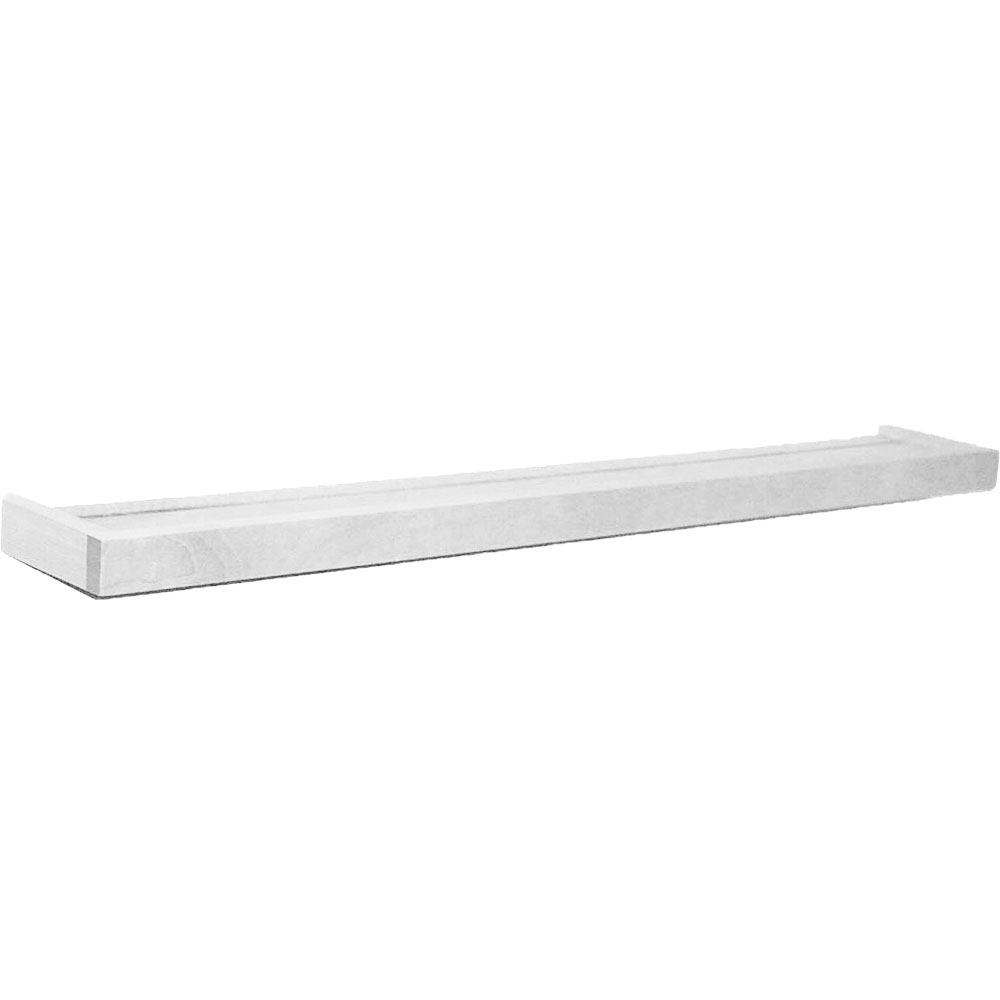 Floating Wood Shelf With Ledge 24 Inch In Wall Mounted