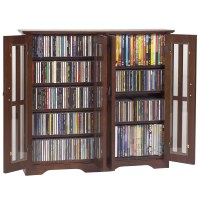 Mission Style Wall Multimedia Cabinet in Wall Media Storage
