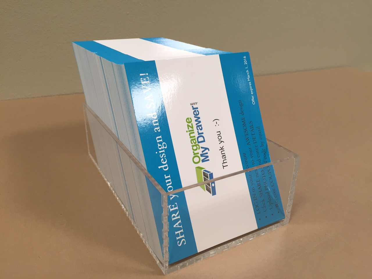Quarter Page Flyer Holder Vertical Custom Acrylic
