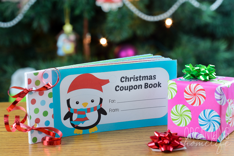 Free Printable Christmas Coupon Book for Kids - Organizing Homelife