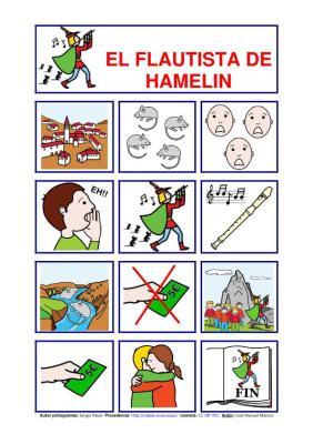 cuentos pictogramas flautista hamelin