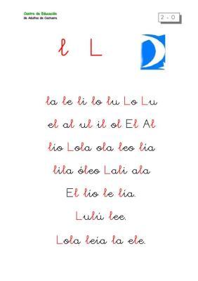 LECTOESCRITURA LETRA L