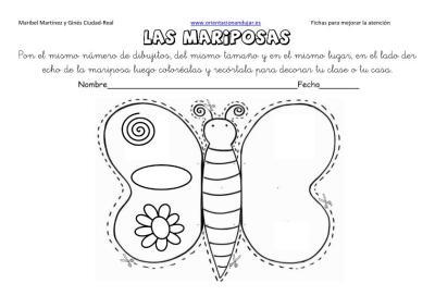 lateralidad y recortar mariposas 3