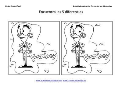 encuentra las diferencias dibujos animados para niños imagenes_3