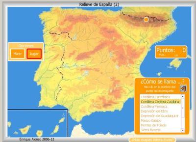 RELIEVE de España COMO SE LLAMA