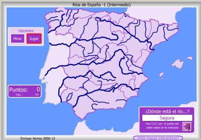 RIOS de España FACIL DONDE ESTA INTERMEDIO