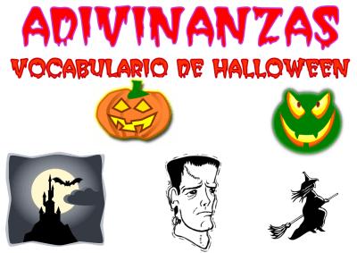 adivinanzas vocabulario de halloween portada