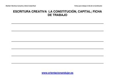 Escritura creativa la constitución Primaria y secundaria imagen 5