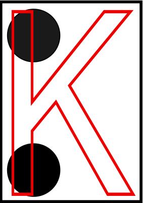 braille letra k