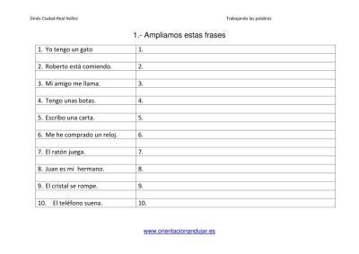 Ampliar frases trabajamos la composición escrita  EN imagenes_2