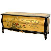 Oriental Furniture Gold Leaf Flat Screen TV Cabinet | eBay