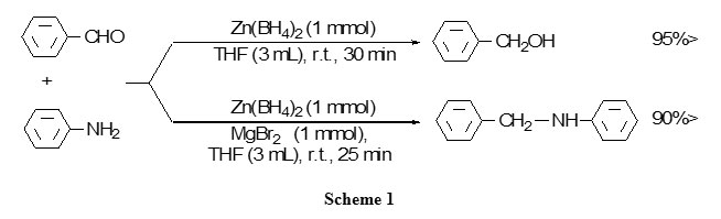 Entry4 Preparation Of Arylamines Form Aldehydes By Zn Bh4 2 Mgbr2