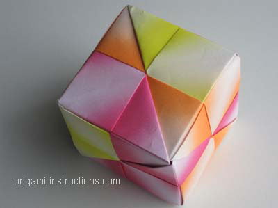 Easy Modular Origami Cube Folding Instructions How To