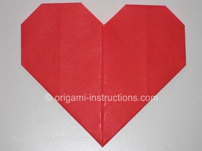 Easy Origami Heart Folding Instructions - How to Make an easy