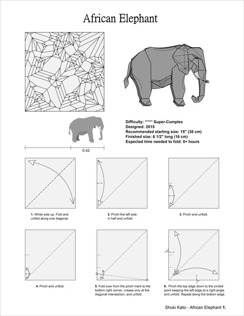 complex origami instructions diagrams for origami models