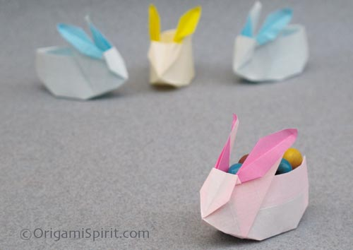 Origami Instructions Cute Origami Rabbit, Perfect Bunny Box for Easter
