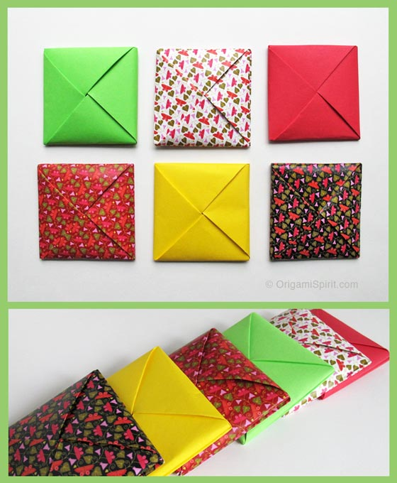 A Menko -How to Make a Traditional Origami Envelope