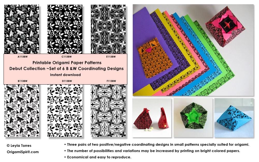 Printable Origami Paper \u2013 Digital Design Patterns