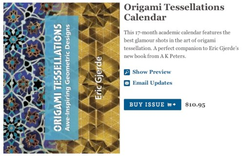 Origami Tessellations Calendar