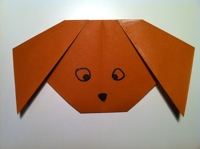 How To Make A Paper Dog Easy Origami Dog Instructions For