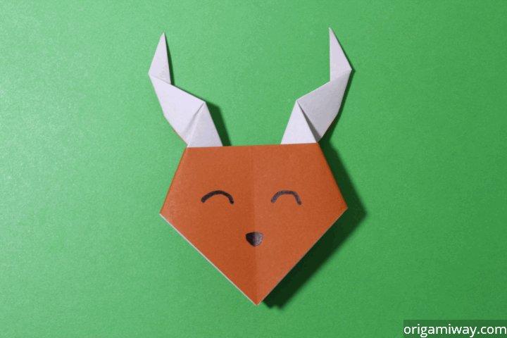 How To Make Paper Reindeer Easy Origami Reindeer Instructions