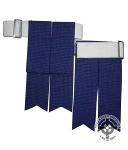 Royal Blue Kilt Flashes