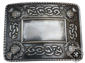 Antique Buckle With Thistle