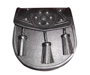 Black Cowhide Embossed Design With Tassels