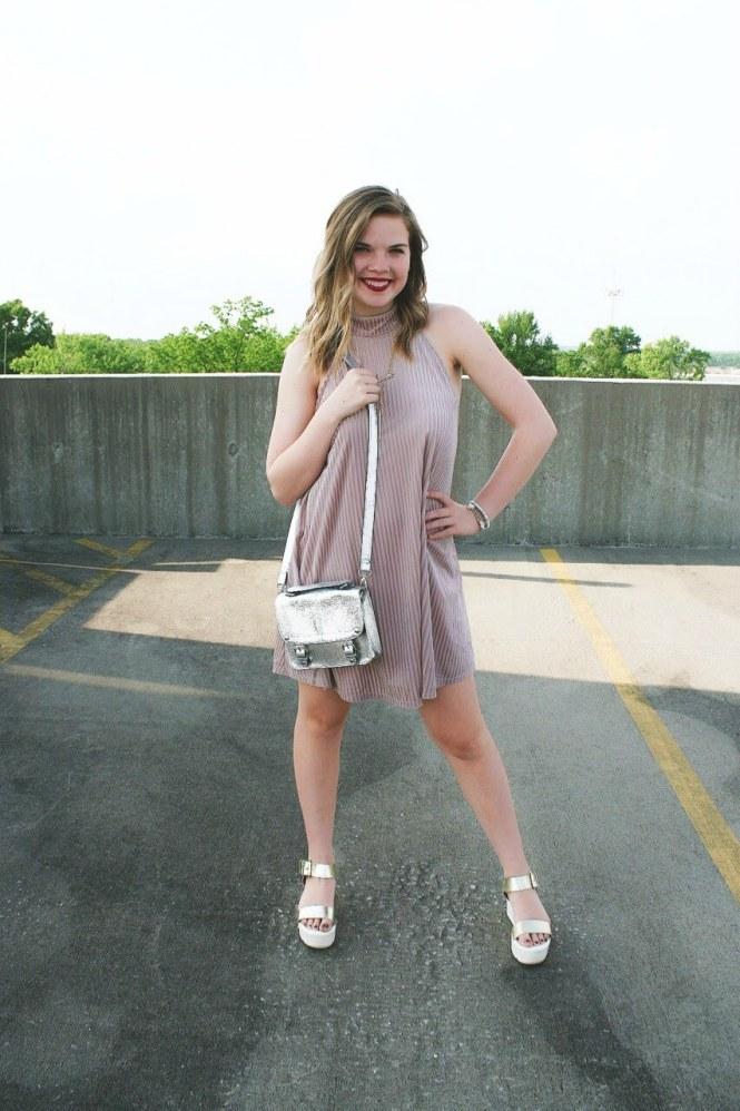Original Sam Smith. Causal Summer Pink Suede Dress + A Life Update