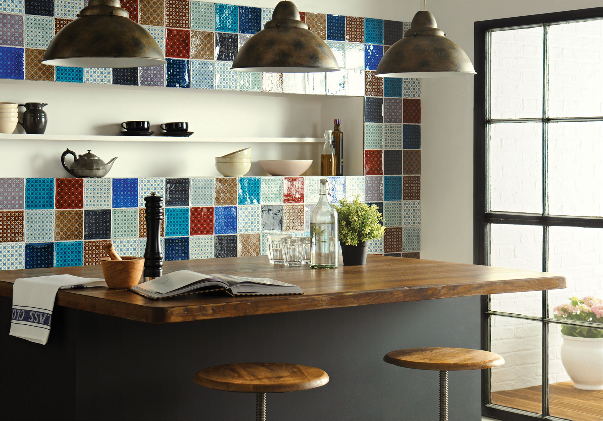 contemporary modern kitchen tile designs Chateaux