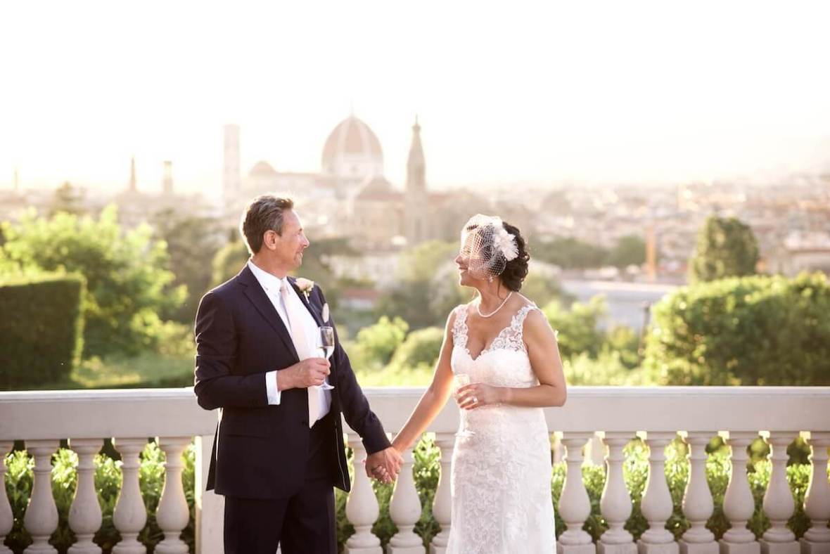 wedding overlooking Florence's historical center.