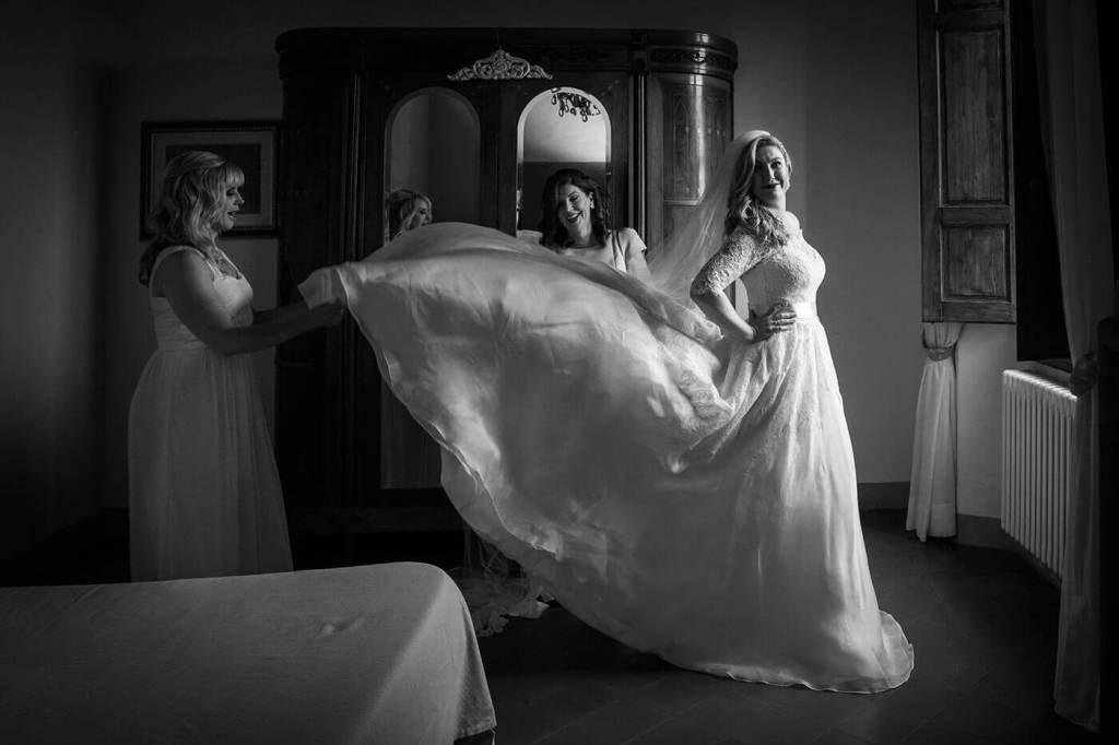 Whitney wear her wedding dress