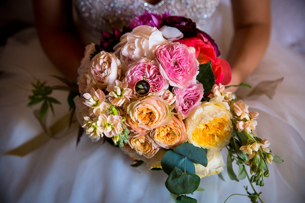 the wonderful bouquet of the bride