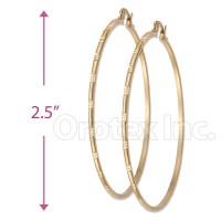 Orotex Gold Layered Hoop Bangle Earrings: Oro Laminado ...