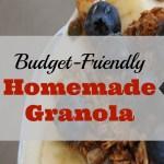 Budget-Friendly Homemade Granola