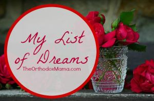 My List of Dreams