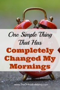 One Simple Thing That Has Completely Changed My Mornings