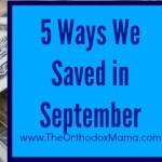 5 Ways We Saved in September
