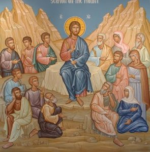 Sermon on the Mount Jesus teaching icon