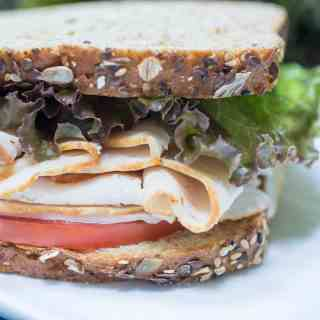 Simple All-Natural Sliced Turkey Sandwich