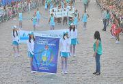 No desfile, as escolas da rede pública abordaram as questões de preservação e uso correto da água