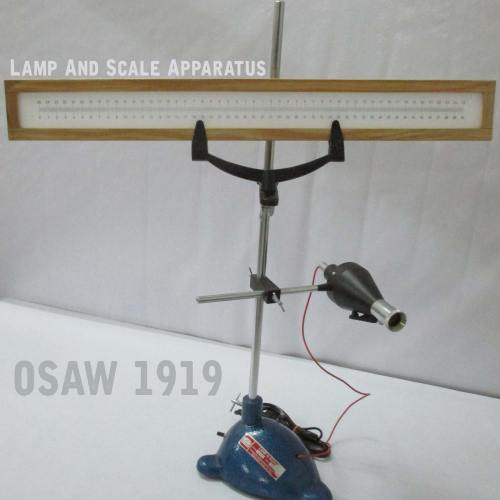 Lamp And Scale Arrangement - Physics Lab Apparatus