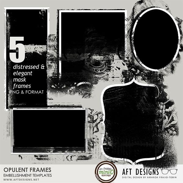Embellishment Templates - Opulent Frames #digitalscrapbooking Word - word design frames