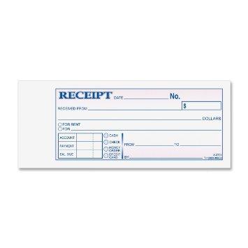 Adams TC2701 Money/Rent Receipt Book